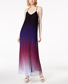 Bar III Ombré Pleated Maxi Dress, Created for Macy's