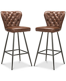 Reindi Bar Stool (Set Of 2), Quick Ship
