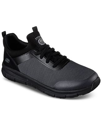 Skechers Men's Work Relaxed Fit: Wishaw Sr Work Sneakers from Finish Line
