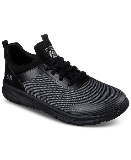 Skechers Men's Work Relaxed Fit: Wishaw Sr Work Sneakers from Finish Line t6B90
