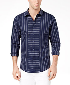 I.N.C. Men's Striped Regular-Fit Shirt, Created for Macy's