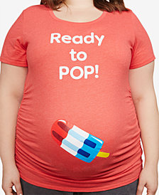 Motherhood Maternity Plus Size Ready To Pop Maternity T-Shirt