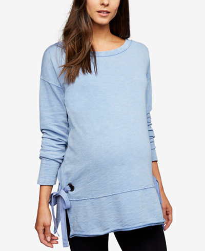 A Pea In The Pod Maternity Side-Tie French Terry Sweatshirt