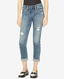 Silver Jeans Co. Sam Ripped Boyfriend Jeans, Created for Macy's