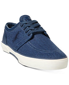 Polo Ralph Lauren Faxon Men's Chambray Sneakers