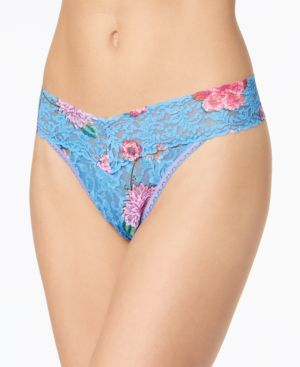 Janis Low-Rise Sheer Lace Thong 3W1582