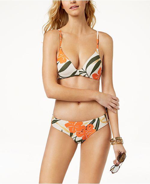 53f7a5b156 Vince Camuto Printed Bikini Top   Shirred Cheeky Bikini Bottoms ...