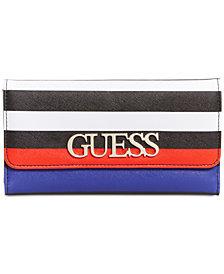 GUESS Felix Striped Clutch Wallet