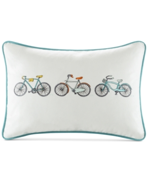 HipStyle Cruz 14 x 20 Bicycle Embroidered Oblong Decorative Pillow