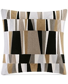 "INK+IVY Lars 20"" Square Embroidered Broken Stripe Decorative Pillow"