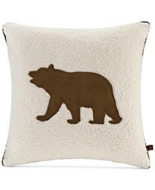"Bear Reversible 18"" Square Decorative Pillow"
