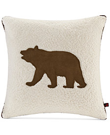 "Woolrich Bear Reversible 18"" Square Decorative Pillow"