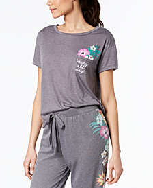 Jenni by Jennifer Moore Graphic-Pocket Pajama T-Shirt, Created for Macy's