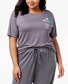 Jenni by Jennifer Moore Plus Size Graphic-Pocket Pajama T-Shirt, Created for Macy's