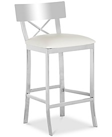 Elward Faux Leather Counter Stool