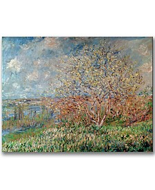 "Claude Monet 'Spring 1880' 35"" x 47"" Canvas Wall Art"