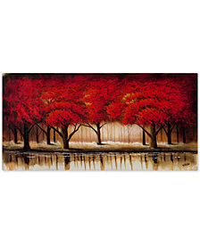 "Rio 'Parade of Red Trees II' 24"" x 47"" Canvas Wall  Art"