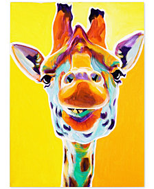 "DawgArt 'Giraffe No. 3' 35"" x 47"" Canvas Art Print"