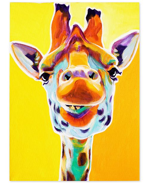 "Trademark Global DawgArt 'Giraffe No. 3' Canvas Art - 24"" x 32"" x 2"""