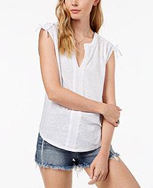 Lucky Brand Mixed-Media T-Shirt