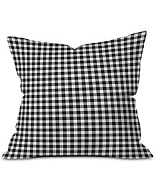 Deny Designs Ebony Gingham Outdooor Throw Pillow