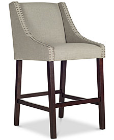Apoch Bar Stool with Nail Head Trim, Quick Ship