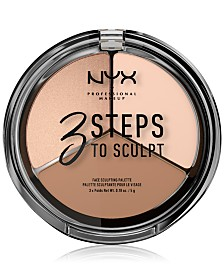 NYX Professional Makeup Three Steps To Sculpt Palette
