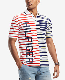 Tommy Hilfiger Men's Paolo Striped Pieced Logo Polo, Created for Macy's