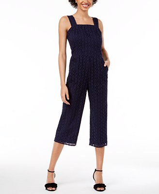 Eyelet Jumpsuit, Created For Macy's by Maison Jules