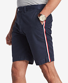 "Tommy Hilfiger Men's Side Stripe 9"" Chino Shorts, Created for Macy's"
