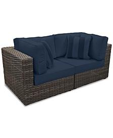 Viewport Outdoor 2-Pc. Modular Seating Set (2 Corner Units) with Custom Sunbrella® Cushions, Created for Macy's