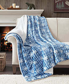 "True North by Sleep Philosophy Cozy 50"" x 60"" Plush to Berber Throw"
