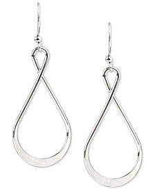 Charter Club Silver-Tone Twisted Drop Earrings, Created for Macy's