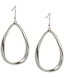 Charter Club Silver-Tone Oval Drop Earrings, Created for Macy's