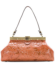 Patricia Nash Floral Tooled Satchel