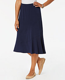 Alfred Dunner Petite Royal Street Collection Midi Skirt