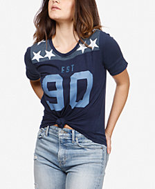 Lucky Brand Graphic-Print Football T-Shirt
