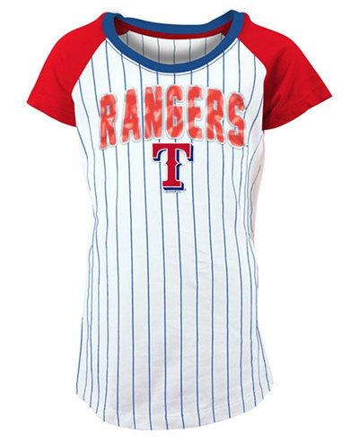 5th & Ocean Texas Rangers Sequin Pinstripe T-Shirt, Girls (4-16)