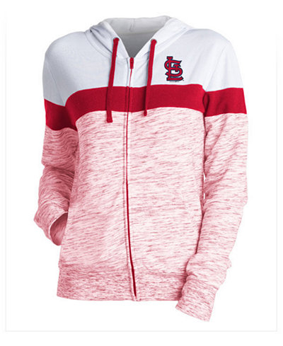 5th & Ocean Women's St. Louis Cardinals Space Dye Hoodie