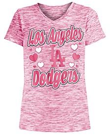 Los Angeles Dodgers Spacedye T-Shirt, Girls (4-16)