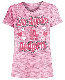5th & Ocean Los Angeles Dodgers Spacedye T-Shirt, Girls (4-16)