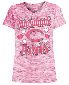 5th & Ocean Cincinnati Reds Spacedye T-Shirt, Girls (4-16)