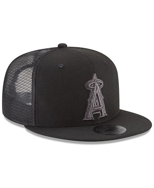 finest selection 67309 274d4 ... New Era Los Angeles Angels Blackout Mesh 9FIFTY Snapback Cap ...