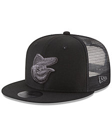 New Era Baltimore Orioles Blackout Mesh 9FIFTY Snapback Cap