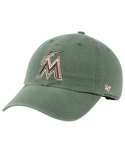 '47 Brand Miami Marlins Moss Pink CLEAN UP Cap