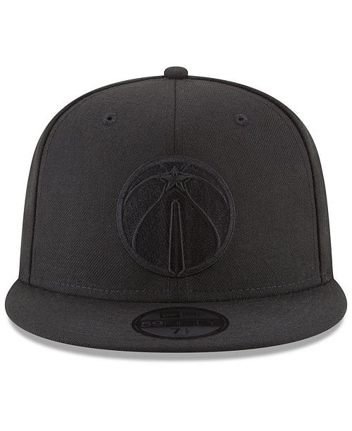 quality design ade29 d8755 New Era Washington Wizards Blackout 59FIFTY Fitted Cap - Sports Fan Shop By  Lids - Men - Macy s