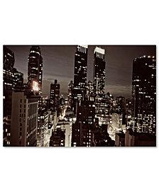 """Ariane Moshayedi 'NYC After Dark' 30"""" x 47"""" Canvas Art Print"""