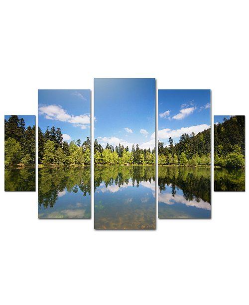 "Trademark Global Philippe Sainte-Laudy 'Lake Maix' Multi-Panel Wall Art Set, 40"" x 58"""
