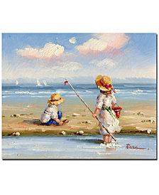 """At the Beach III' 26"" x 32"" Canvas Wall Art"
