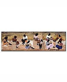 "Garner Lewis 'Basket Weavers' Canvas Art - 47"" x 14"""